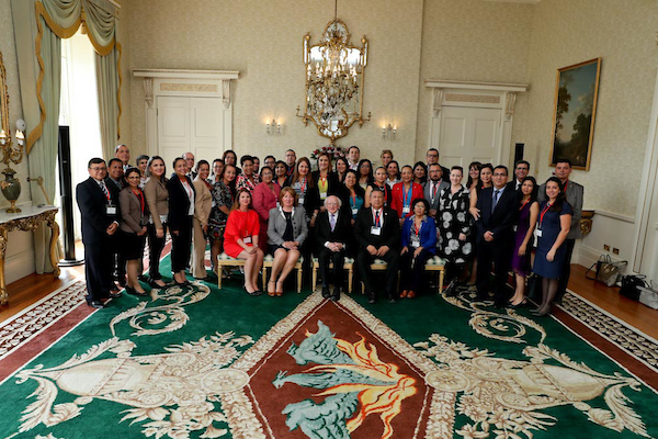 President Higgins welcomes IUA and the HICA Project Group to the Aras – 19 June 2017