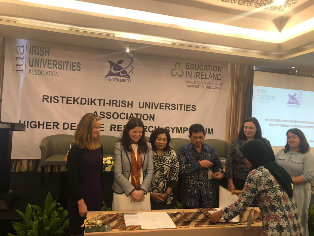Media Release 2nd April – Irish Universities Association signs agreement with Indonesia to give PhD training to Indonesian University Lecturers