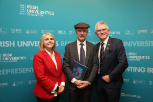 Michael Healy-Rae with Sarah Colloty and Pat O'Shea of UCC