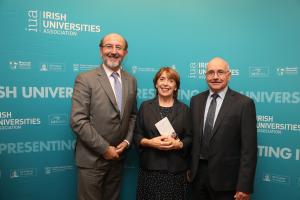 Roisin Shorthall Social Democrats with Brian MacCraith & Ciaran McGiverny of DCU