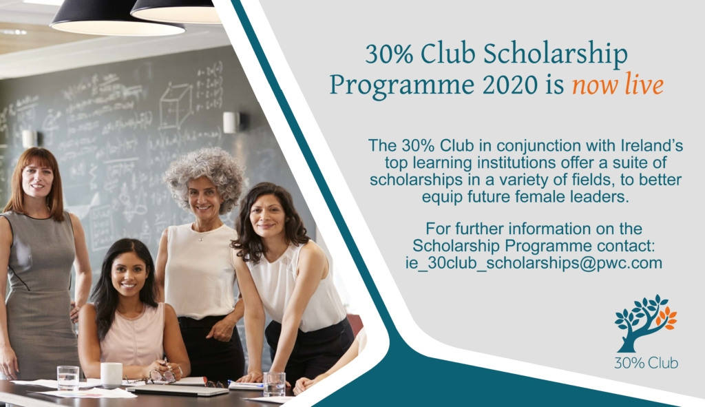 30% Club Executive Education Scholarship Programme 2020
