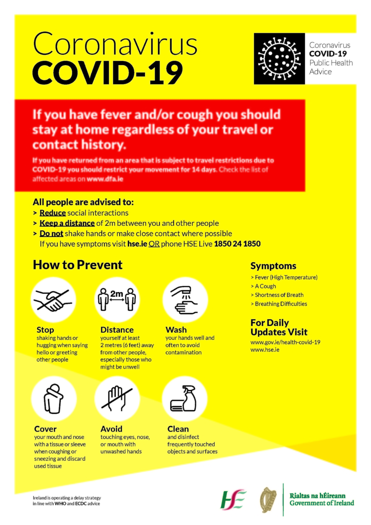 Covid 19 (Coronavirus) - Advice for University Staff and Students ...