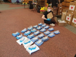 UCD Centre EMS preparing Personal Protective Equipment as part of a daily training session
