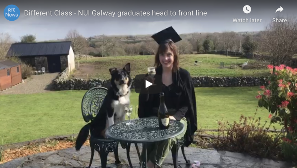 WATCH: Galway medical students graduate online